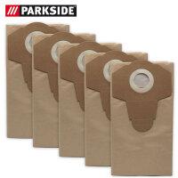 Parkside Papierfilterbeutel, 30 L, 5er Pack, braun